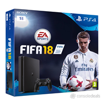 Igralna konzola SONY PlayStation 4, 1000GB, Slim E Chassis + FIFA 18 Deluxe Edition + Dualshock 4 + PS Plus 14