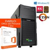PC PCPLUS Magic AMD Ryzen 3 1200 8GB 120GB SSD 1TB RX 550 4GB Windows 10