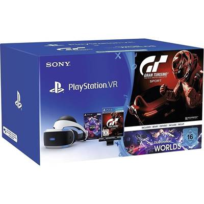 SONY PlayStation VR+VR Worlds + Camera v2 + Gran Turismo Sport