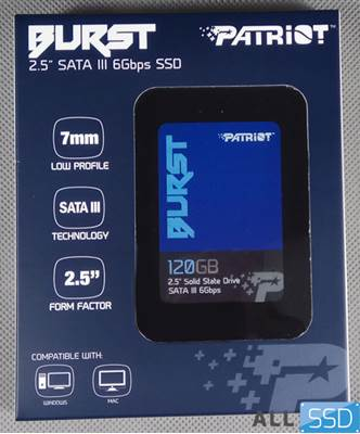 "SSD 120GB PATRIOT BURST PBU120GS25SSDR, SATA3, 2.5"", maks do 560/540 MB/s"