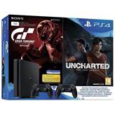 Igralna konzola SONY PlayStation 4, 1TB, E Chassis, Gran Turismo Sport, Uncharted Lost Legacy, DualShock4 Black v2