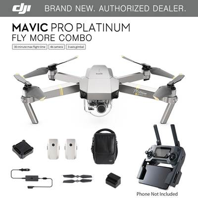 Dron DJI MAVIC PRO FLY MORE COMBO PLATINUM
