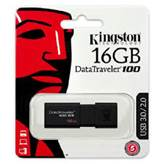 USB ključ Kingston 16GB DT100G3, 3.0, črn, standard velikost (DT100G3/16GB)