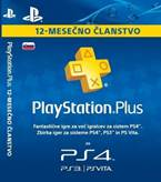 Sony Playstation PS+ kartica 12 mesecev SVN
