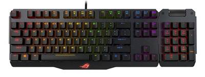 Tipkovnica ASUS Claymore, MX Red, RGB, USB, US SLO g.