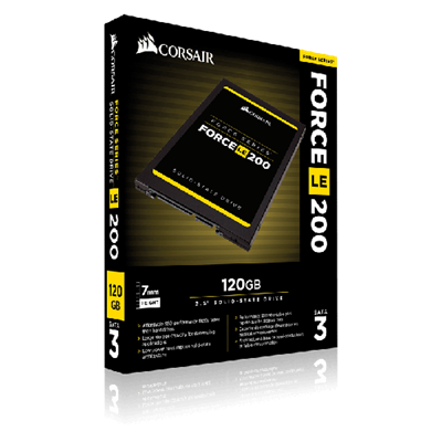 "SSD disk 120GB CORSAIR LE200, SATA3, 1.5"", do 600/550 MB/s"
