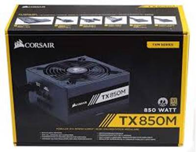 Napajalnik 850W, CORSAIR TX850M, 80 PLUS Gold (92%), semi-modularni, 140mm vent