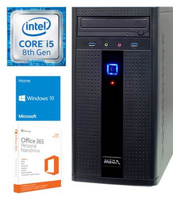 Računalnik MEGA 2000 / i5-8400 (2.8Ghz), 8GB, 256GB SSD, GeForce GTX1050Ti 4GB, Windows 10 + Office 365