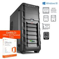 Računalnik PCPLUS Gamer / AMD Ryzen 5 2600 (3.4GHz), 16GB, 2TB + 240GB SSD, GeForce 1060 6GB, Windows 10 home + Office 365