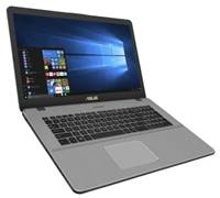 "prenosnik ASUS N705UN-GC158T / i7-8550U (1.8GHz), 8GB, 256GB SSD m.2, GeForce MX150, 17.3"" FHD IPS, Windows 10 Home, Siv"