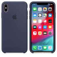 Ovitek za Apple iPhone XS, Silicone Case - modra
