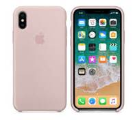 Ovitek za Apple iPhone XS, Silicone Case - roza