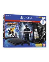 Igralna konzola SONY PlayStation 4 Slim, 1TB set + Hits Igre (UC4-TLOU-R&C)