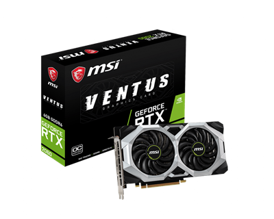 Grafična kartica PCI-E MSI GeForce RTX 2060 Ventus OC 6GB GDDR6, HDMI, DP