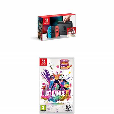 Igralna konzola NINTENDO Switch JUST DANCE 2019 Bundle, rdeče-modra