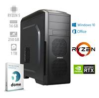 Računalnik ANNI PF7G / Ryzen 5 2600 (3.4/3.9 GHz), 16GB, 250GB M.2 NVMe SSD + 1TB HDD, GeForce RTX 2060 6GB, Windows 10, Office 365, Panda Dome Essential