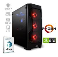 Računalnik ANNI PF7G / Ryzen 7 2700 (3.2/4.1 GHz), 16GB, 250GM M.2 NVMe SSD + 2TB HDD, GeForce RTX 2060 6GB, Panda Dome Essential