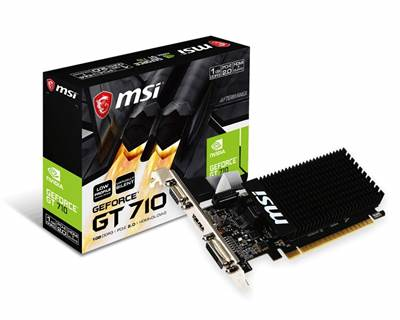 Grafična kartica PCI-E MSI GeForce GT 710 Low profile 1GB, VGA, DVI, HDMI