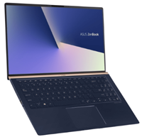 "Prenosnik ASUS ZenBook 15 UX533FN-A8002T / i7-8565U (1.8GHz), 8GB, 256GB M.2 SSD, GeForce MX150 2GB, 15,6"" FHD, Windows 10 Home, modra"