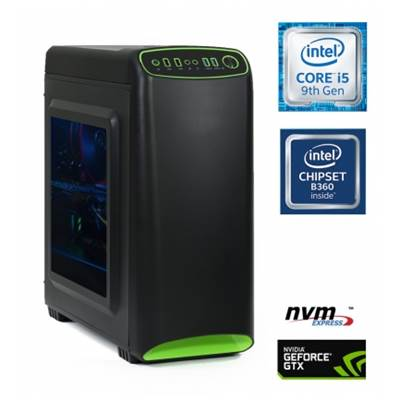 Računalnik MEGA 4000S Gamer / i5-9400F (2.9/4.1 GHz), 8GB, 250GB M.2 NVMe SSD + 1TB HDD, GeForce GTX 1660 6GB