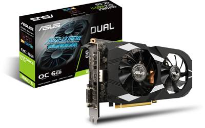 Grafična kartica PCI-E ASUS GeForce GTX 1660 OC 6GB, DVI, HDMI, DP