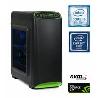 Računalnik MEGA 4000S Gamer / i5-9400F (2.9/4.1 GHz), 8GB, 250GB NVMe M.2 SSD + 1TB, GTX 1660 6GB, Windows 10 + Office 365 Personal