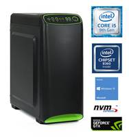 Računalnik MEGA 4000S / i5-9400F (2.9/ 4.1 GHz), 8GB, 500GB NVMe M.2 SSD, GeForce GTX 1650 4GB, Windows 10