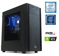 Računalnik MEGA 6000X / i5-9600K (3.7/4.6 GHz), 16GB, 250GB M.2 NVMe SSD + 2TB HDD, GeForce RTX 2060 6GB, Windows 10