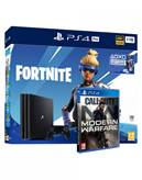 Igralna konzola SONY Playstation 4 Pro, 1TB, črna + VCH Fortnite + Call Of Duty: Modern Warfare