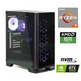 Računalnik MEGA 7000 / Ryzen 7 3700X (3.6/4.4 Ghz) 16GB, 500GB M.2 NVMe SSD + 2TB HDD. GeForce RTX2060 8GB SUPER