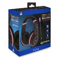 Slušalke 4GAMERS PS4, gaming, Rose Gold Edition - Abstract black