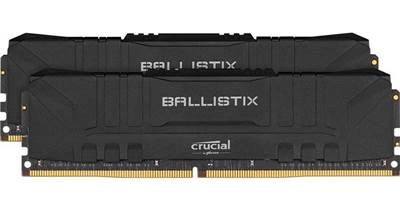 Pomnilnik PC-25600, 16GB, CRUCIAL Ballistix Black, BL2K8G32C16U4B, DDR4 3200MHz, kit 2x8GB, CL16