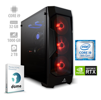 Računalnik ALFA PF7 / i9-9900K (3.6/5.0 GHz), 32GB, 1TB SSD + 2TB HDD, GeForce RTX 2080 8GB, Panda Dome Essential