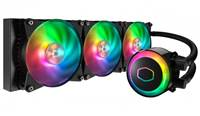 Vodno hlajenje COOLER MASTER MasterLiquid ML360R, 3x120mm, RGB, 650-2000 obr/min, PWM, 6 - 30dBA, 67CFM, socket 2066/2011-3/115X/AM4