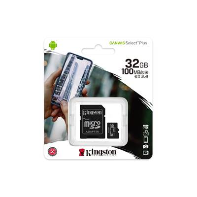 Spominska kartica KINGSTON Canvas Select Plus Micro SDCS2/32GB, SDHC 32GB, Class 10 UHS-I + adapter