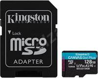 Spominska kartica KINGSTON Canvas Go Plus Micro SDCG3/128GB, SDXC 128GB, Class 10 UHS-I + adapter