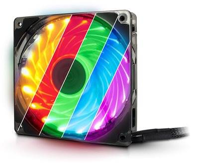 Ventilator INTER-TECH Argus L12025 Aura LED RGB, 120mm, 1500 okr/min