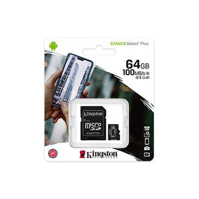 Spominska kartica KINGSTON Canvas Select Plus Micro SDCS2/64GB, SDXC 64GB, Class 10 UHS-I + adapter