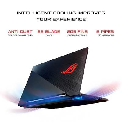 "Prenosnik ASUS ROG Zephyrus S15  HF012T / i7-10750H (2,6GHz), 32GB, 1TB SSD NVMe, 39,6 cm (15,6"") FHD 300Hz GeForce RTX 2080 6 GB SUPER, Windows 10, črna"