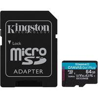 Spominska kartica KINGSTON Canvas Go Plus Micro SDCG3/64GB, SDXC 64GB, Class 10 UHS-I + adapter