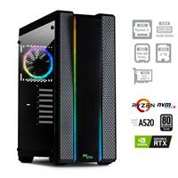 Računalnik PC PLUS GAMER / R5-5600X (3,7/4,6GHz), 16GB, 500GB SSD M.2 + 2TB HDD, GeForce RTX 3060Ti 8GB, FreeDOS, črn