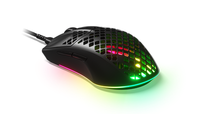 Miška STEELSERIES Aerox 3, optična, RGB, 8500dpi, USB, črna