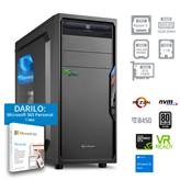 Računalnik PC PLUS GAMER / R5-3600 (3.6/4.2 GHz), 16GB, 256GB SSD NVMe + 1TB HDD, GeForce GTX 1660 Super 6GB GDDR6, Windows 10, črn + darilo