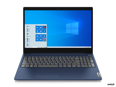 "Prenosnik LENOVO IdeaPad 3 81W10199SC / R5-3500U (2,1GHz), 8GB, 256GB SSD NVMe, 39,6 cm (15.6"")  IPS FHD, Windows 10, modra"