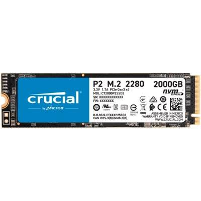 SSD disk 2TB CRUCIAL P2, NVMe M.2, 2400/1900 MB/s